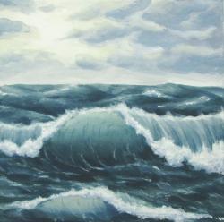 Drawn ocean ocean storm