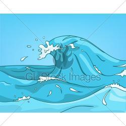 Monster Waves clipart cartoon