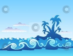 Seascape clipart cartoon