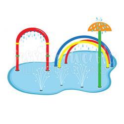 Fountain clipart splash pad