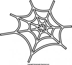 Small clipart spider web