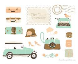 Caravan clipart vintage wedding car