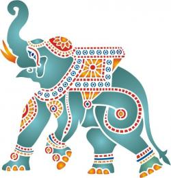 Asian Elephant clipart colorful elephant