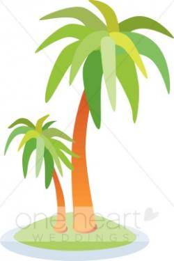 Oasis clipart palm tree