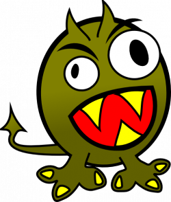 Sea Monster clipart silly cartoon