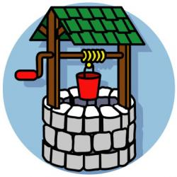 Wishing Well clipart well pulley