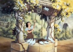 Wishing Well clipart snow white