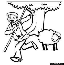 Shepherd Boy clipart black and white