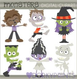 Bride Of Frankenstein  clipart cute halloween monster