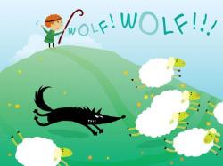 Coyote clipart boy who cried wolf