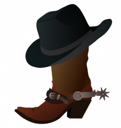 Boots clipart western theme