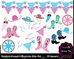 Cowgirl clipart cowgirl birthday