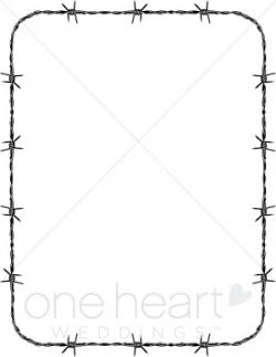 Barbed Wire clipart border