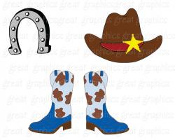 Cowgirl clipart western theme