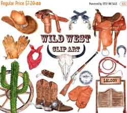 Western clipart decorative
