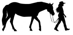Cowgirl clipart riding horse