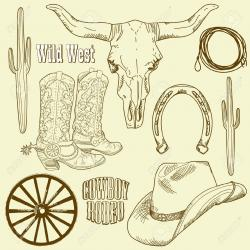 Wild West clipart horseshoe