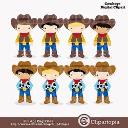 Western clipart little cowboy