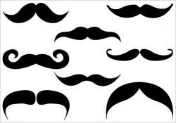Single clipart mustache