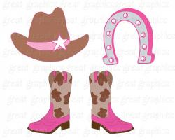 Boots clipart cowgirl birthday