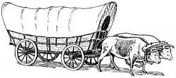 Pioneer clipart horse drawn wagon