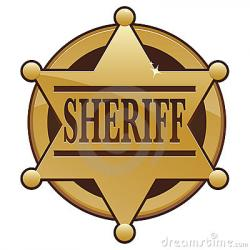 Wild West clipart sheriff badge
