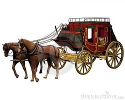 Western clipart stagecoach