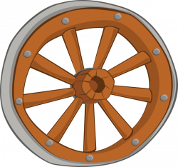 Western clipart wagon wheel
