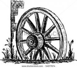 Pioneer clipart wagon wheel