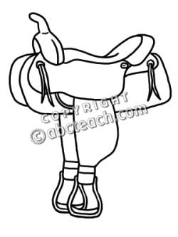 Cowboy clipart saddle