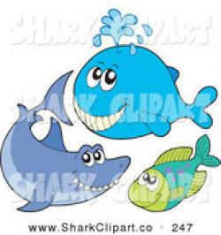 Sharkwhale clipart happy