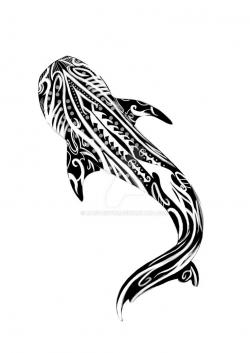 Sharkwhale clipart tribal