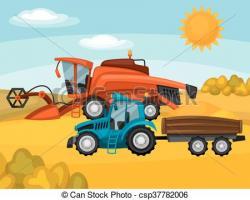 Rural clipart farm tractor