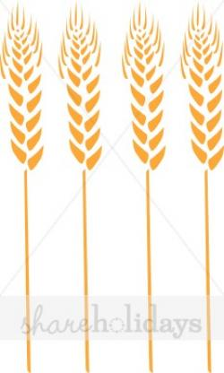 Single clipart wheat stalk
