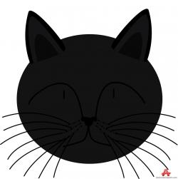 Whiskers clipart cat head