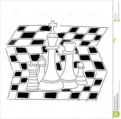 Chess clipart black and white