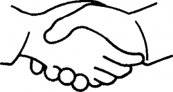 Black clipart handshake