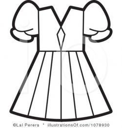 Dress clipart clipart black and white