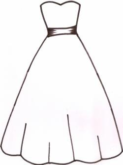 Dress clipart outline drawing
