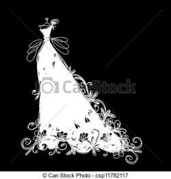 Veil clipart wedding dress