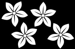 Plumeria clipart black floral