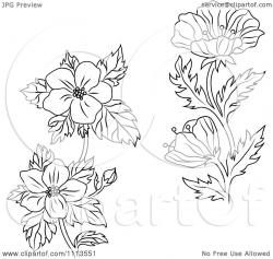 Buttercup clipart flower outline