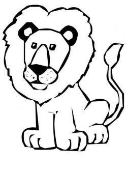 Line Art clipart lion