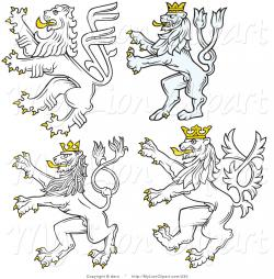 White Lion clipart heraldic lion
