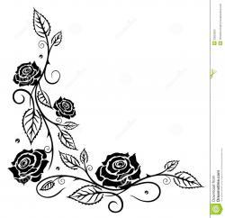 White Rose clipart rose leaves