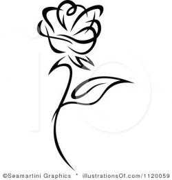 White Rose clipart single