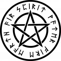 Pentagram clipart circle
