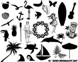Costa Rica clipart Tropical Clipart Black And White