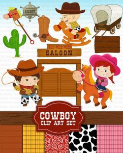 Cowgirl clipart cowboy ranch