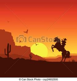 Wild West clipart landscape